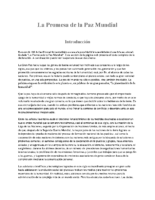 Spanish The Promise of World Peace La Promesa de la Paz Mundial